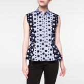 Paul Smith Women's Striped Sleeveless Cotton Shirt With Polka Dot Print