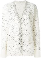 Saint Laurent jewelled cardigan - women - Nylon/Mohair/Wool - XS