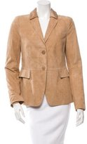 Akris Punto Suede Fitted Blazer