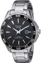 Pulsar Men's Quartz Stainless Steel Casual Watch, Color:Silver-Toned (Model: PX3121)