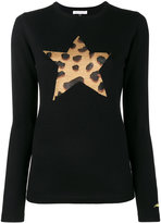 Bella Freud leopard star knitted jumper