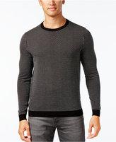 HUGO BOSS Green Men's Ricco Geometric Sweater