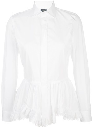 Polo Ralph Lauren Peplum Broadcloth Shirt