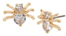 Betsey Johnson Cubic Zirconia Spider Stud Earrings