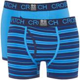 Crosshatch Men's 2 Pack Deckster Boxer Shorts - Malibu Blue