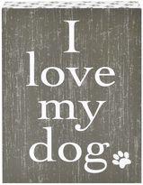 "Belle Maison ""I Love My Dog"" Box Sign Art"