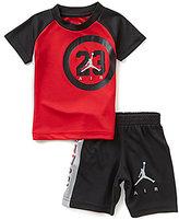 """Jordan Little Boys 2T-7 """"23"""" Raglan-Sleeve Tee & Shorts Set"""