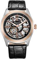 Kenneth Cole New York Men's KC1792 Automatic Skeleton Dial Black Leather Strap