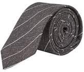 Burton Mens Grey Scratch Stripe Tie