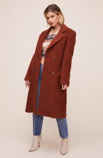 ASTR the Label The Blair Coat In Cinnamon - XS