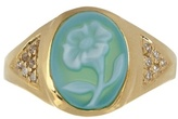 Jacquie Aiche Diamond, agate & yellow-gold ring