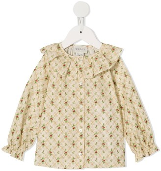 Gucci Kids Floral Printed Blouse