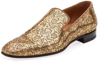 Christian Louboutin Men's Dandelion Laser-Cut Loafer