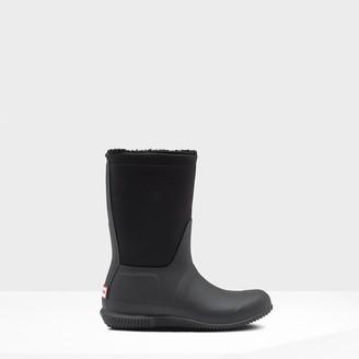 Hunter Women's Original Insulated Roll Top Sherpa Boots - Black