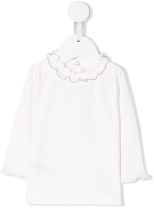 Il Gufo Ruffled Neck Blouse