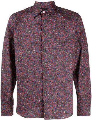Paul Smith Abstract-Print Pointed Collar