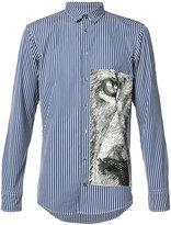 MSGM tiger stripe shirt - men - Cotton - 40