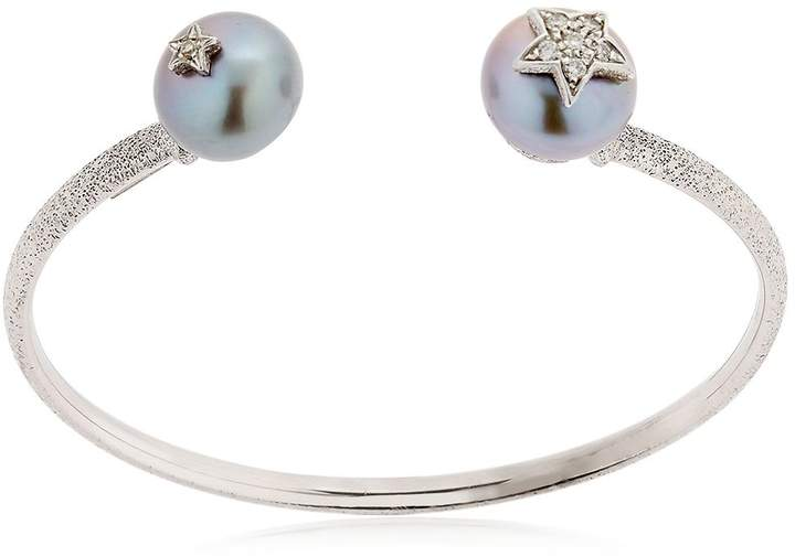 Carolina Bucci Pearl White Gold Bangle Bracelet