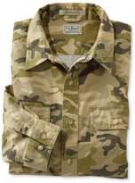 L.L. Bean L.L.Bean Sunwashed Canvas Shirt, Traditional Fit Print