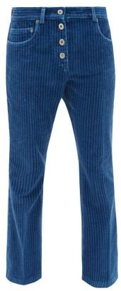 Miu Miu Cropped Corduroy Jeans - Blue