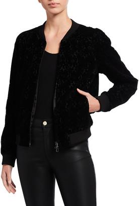 Emporio Armani Lace Velvet Bomber Jacket
