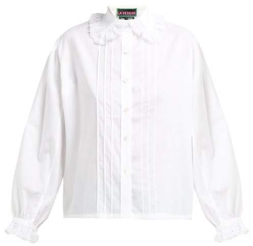 4c0eeef3149 Lace Collar Blouse - ShopStyle