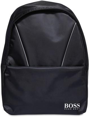 HUGO BOSS Logo Jacquard Nylon Backpack