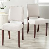Safavieh Mercer Collection Colette Linen Side Chairs, Cream, Set of 2