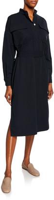 Co Utilitarian Cotton Midi Shirtdress