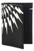 Neil Barrett Thunderbolt Calf Leather Tall Wallet
