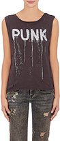 R 13 Women's Punk Cotton-Cashmere Jersey T-Shirt-GREY, BLACK