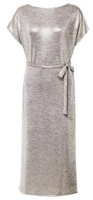 Dorothy Perkins Womens Tall Gold Tie Waist Midi Shift Dress, Gold