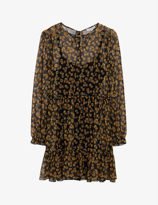 Topshop Floral-print crepe mini dress