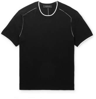 Rag & Bone Evens Contrast-Tipped Cotton, Silk And Cashmere-Blend T-Shirt