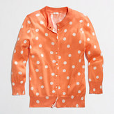 J.Crew Factory Factory Clare cardigan in big dot