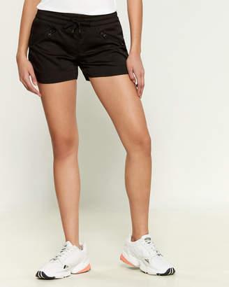 Blanc Noir Aviator Zip Accents Shorts