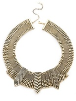 Fortune favors the brave Arrow Chain Collar Necklace