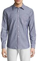 Billy Reid Walland Spread Collar Sportshirt