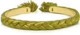 Aurelie Bidermann Copacabana Gold and Cotton Thin Bangle