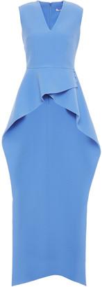 Safiyaa Asymmetric Stretch-crepe Peplum Top