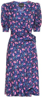 Marc Jacobs Floral silk wrap dress