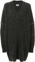 MM6 MAISON MARGIELA oversized V-neck jumper - women - Acrylic/Polyamide/Spandex/Elastane/Wool - S