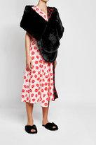 Simone Rocha Embellished Faux Fur Scarf