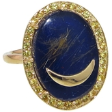 Andrea Fohrman Oval Lapis and Crescent Ring