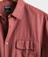 Todd Snyder Lightweight Italian Military Shirt in Mauve