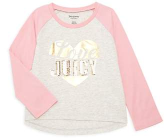 Juicy Couture Little Girl's Embellished Logo Cotton Tee