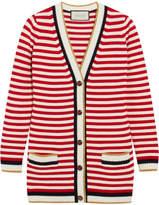 Gucci Striped Stretch Cotton-blend Cardigan