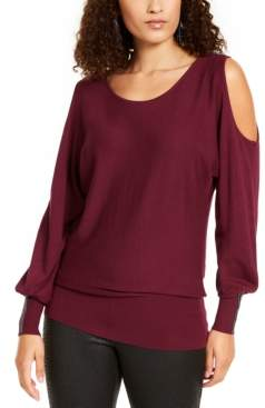 Thalia Sodi Cold-Shoulder Dolman-Sleeve Top, Created For Macy's