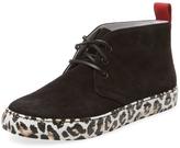 Del Toro Men's Suede Leopard Chukka Sneaker