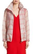 Akris Women's Silk Blend Organza Check Print Jacket